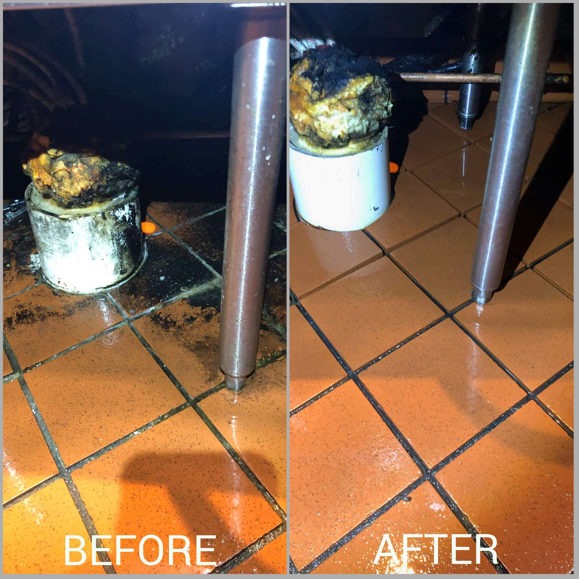 before after commercial tile scrubbing