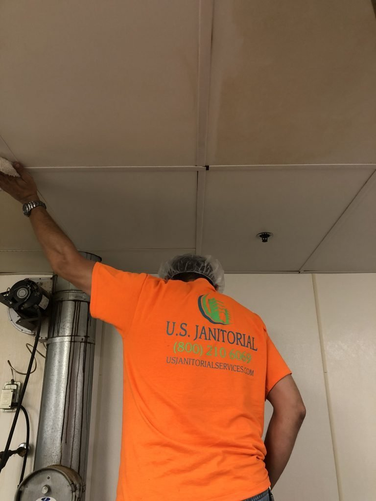 walls & ceilings cleaning by US Janitorial Services team