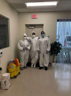 U.S. Janitorial Services disinfection team
